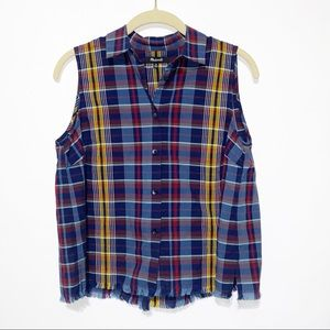 Madewell Sleeveless Buttoned Blouse XS